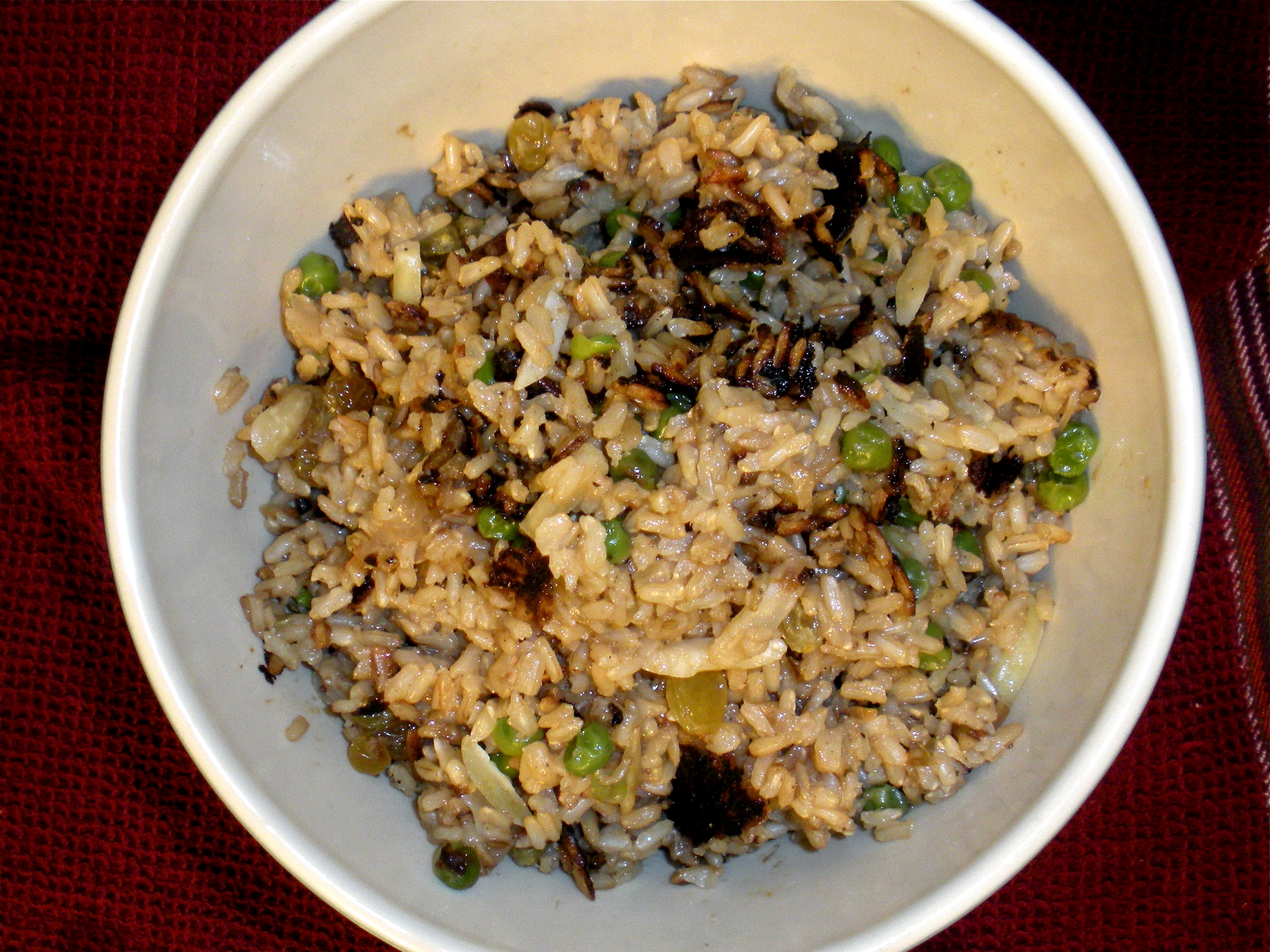 how to make basmati rice with peas