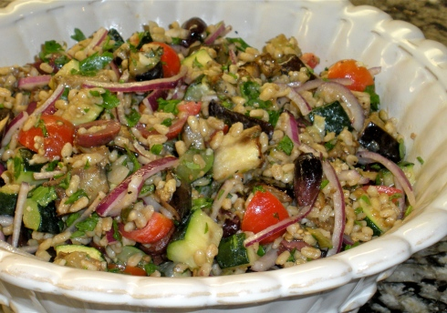 Mediterranean Eggplant and Barley Salad | Fork Tender